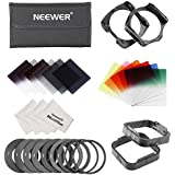 Neewer Square Filter Kit for Cokin P Series: Full and Graduated ND Filters, Graduated Color Filters, Ring Adaters, Holder, Lens Hood, Cleaning Cloth