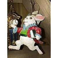 Gisela Graham : Christmas Decoration : White Rabbit