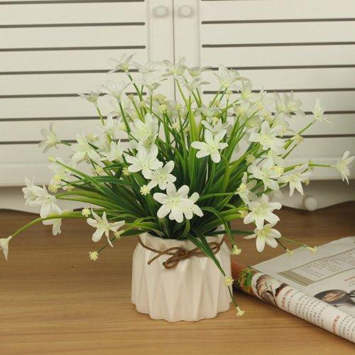 Handbuch Gartenarbeit (LVLIDAN Kunstblumen real touch künstliche Blume Topfpflanzen Gartenarbeit Dekoration Orchidee Weiß)