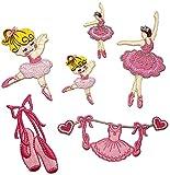 i-Patch - Patches - 0163 - Stickerei - Applikation - Aufnäher - Ballerinas - Elfen - Feen - Ballett - Aufnäher Patches - Aufbügler - Patches zum aufbügeln - Applikation zum aufbügeln - Iron-on