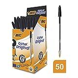 Bic Cristal Original Punta Media 1 mm Confezione 50 Penne Colore Nero