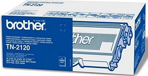 Brother Original Tonerkassette TN-2120 schwarz (für Brother HL-2140, HL-2150N, HL-2170W, DCP-7030, DCP-7040,...