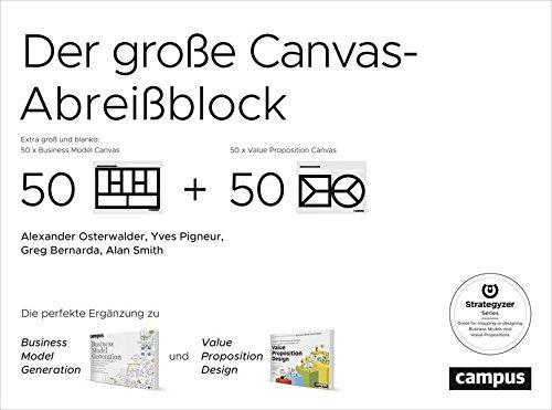 Der große Canvas-Abreißblock: Die perfekte Ergänzung zu Business Model Generation und Value Proposition Design Extra groß und blanko: je 50 Vorlagen Business Model Canvas und Value Proposition Canvas