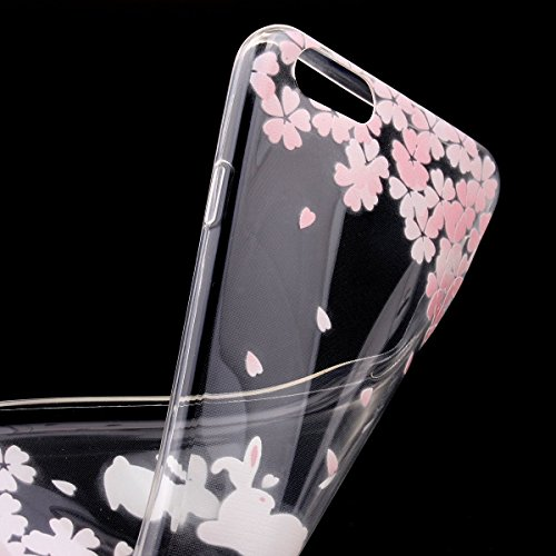 iPhone 5s 5 Hülle,iPhone 5s 5 Case [Scratch-Resistant] , ISAKEN iPhone 5s 5 Ultra Slim Perfect Fit Einzigartige Ozean Meer Design Niedliche Cartoon Malerei TPU Clear Transparent Protective back Hülle  KanZollen Blumen