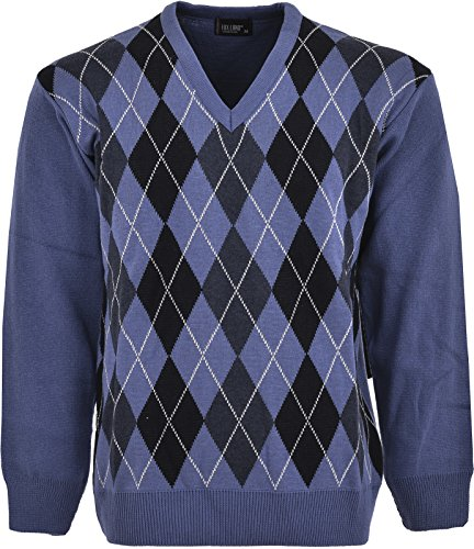 mens-ribbed-knitted-v-neck-acrylic-cotton-argyle-pattern-jumpers-x-large-sky