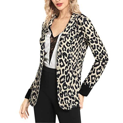 Mujeres Blazer Elegante Oficina Traje de Chaqueta Outwear Casual STRIR (Amarillo, XL)