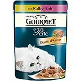 Gourmet Perle Katzenfutter Duetto di Carne mit Kalb und Ente, 24er Pack (24 x 85 g) Beutel