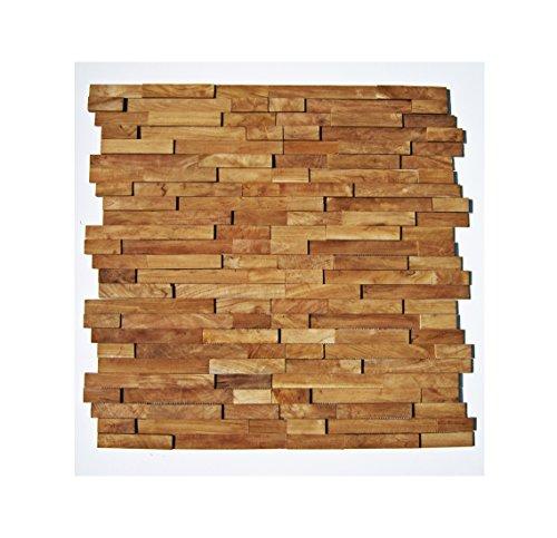 HO-M-002 - 1 Muster Fliese Teak-Holz Mosaikfliesen Wand-Verblender Stein-Mosaik Fliesen Lager Verkauf Herne NRW