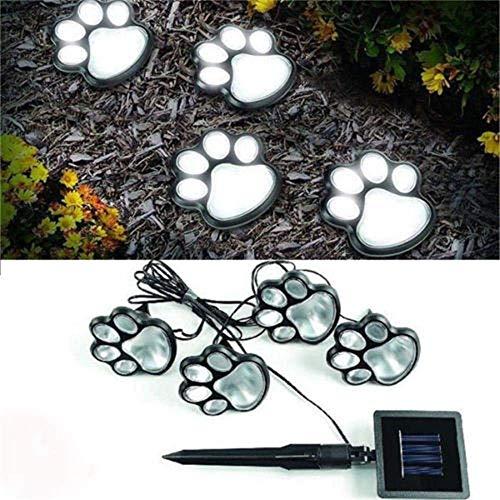MNmkjgfgj Hot 4 Solar Hund Katze Tier Pfotenabdruck Lichter Garten Outdoor LED Weg Lampe Auto An (Lichterkette/Light/Tischlampe/Nachttischlampe/Nachtlicht) (Color : -, Size : -) -