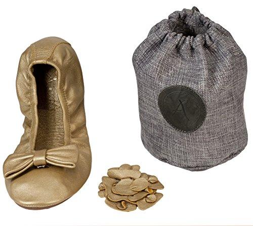 ATRIOLIS - ballerines cuir pliables avec accessoires - femmes Or