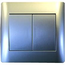 Voltman DIO042402 Tango- Interruptor de pulsador doble (aluminio)