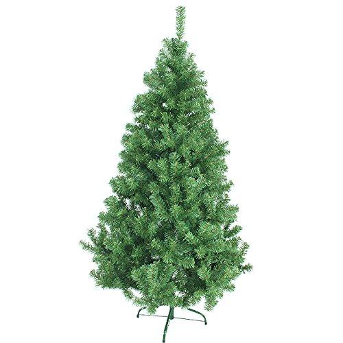 Hengda 150 cm ca. 350 Zweige Künstlicher Weihnachtsbaum Kiefer Grün mit Metallständer Kunsttanne Tannenbaum Christbaum Hoch