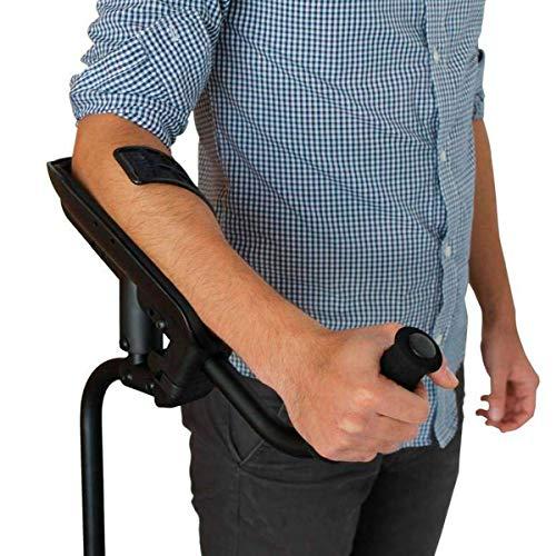 KMINA - KMINA PRO Krücken, Gehhilfe krücken für Senioren, Gehilfen krücken Unterarmstütze mit Stoßdämpfungssystem für mehr Komfort, Aluminium Krucken, Recht Exemplar