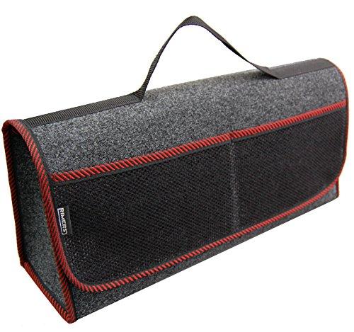 Kofferraumtasche ROT Auto Tasche Zubehörtasche Car Boot Organiser Toolbag RIMERS 50x16x21cm Klettverschluss