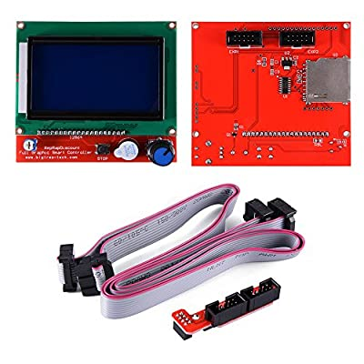 12864 LCD Graphic Smart Display Controller Module with Adapter + Cable for RepRap RAMPS 1.4 3D Printer Kit