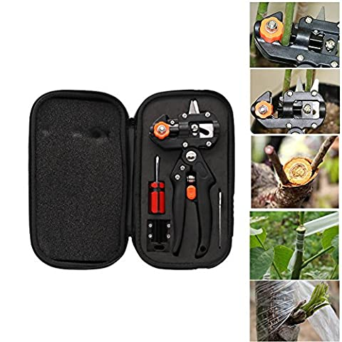 lzn Grafting Machine mit 2 Blades Tree Grafting Tools Secateurs Schere Impfung Cutting Pruner Tool Kit Set mit (Pruner Kit)