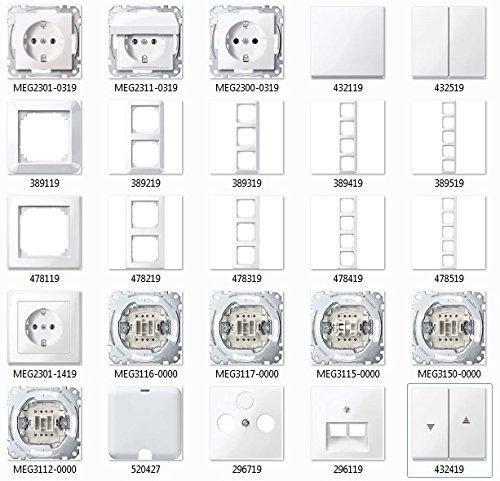 Preisvergleich Produktbild MERTEN polarwei glnzend System M & M-Smart Schalter & Steckdosen- Set Auswahl
