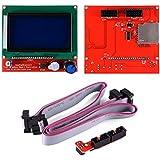 12864 LCD graphique Smart Display Controller Module avec adaptateur + câble pour RepRap RAMPS 1.4 Kit Imprimante 3D