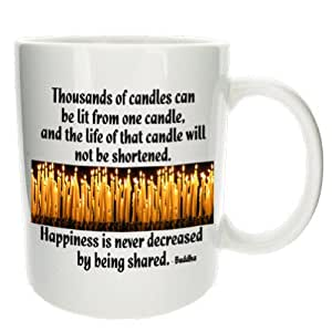 MugsnKisses Tasse à café Citation de Bouddha