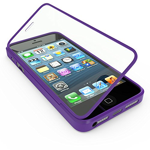 youcase - Apple iPhone 5C Touch Case TPU-Schutz-Hülle mit Schutzfolie Displayfolie Outdoor Smart Cover Tasche Etui Silikon lila