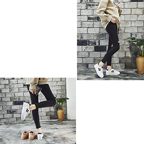 LIANGJUN Scarpe Da Ginnastica Piatto Scarpe Da Donna Sport All'aperto Primavera, 5 Dimensioni Disponibili, 2 Colori ( Colore : Bianca , dimensioni : EU39=UK6=L:245mm ) Bianca