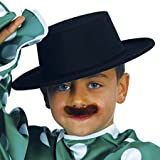 Guirca - Sombrero cordobés flocado, para niños, color negro (13340)