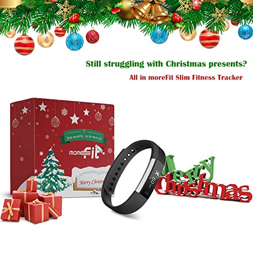 moreFit Slim Fitness Tracker with Touch Screen Best Fitness Wrist Band Pedometer Smartband Sleep Monitor Watch, Plum