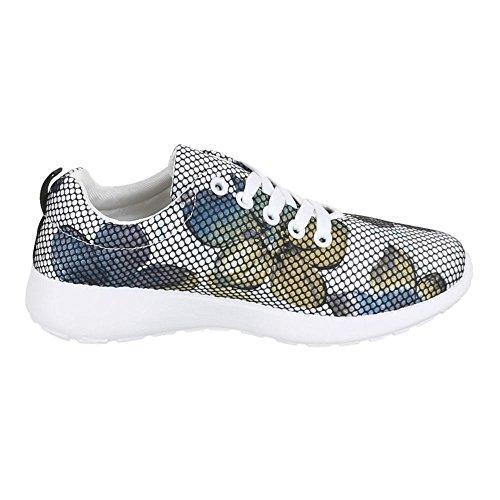 Ital-Design, Sneaker donna Blu (blu)