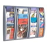 Paperflow K540615 Quick Fit A4 Portariviste da Muro, 4 Scomparti