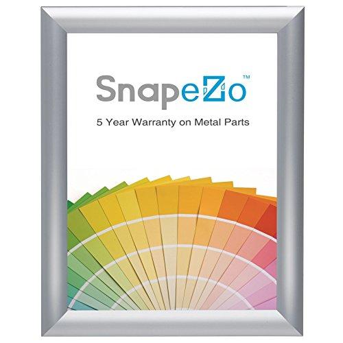 25,4cm, 2,5cm Profil, Aluminium, Silberfarben gebürstet, 8x10 ()