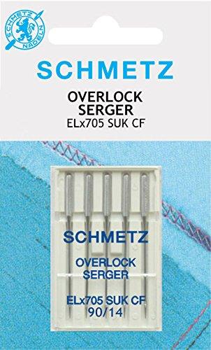 Agujas overlock Schmetz ELx705CF Jersey 5 pcs 90