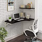 Laptop Desk Home Wandhalterung Klapptisch Drop Leaf Esstisch Laptop Desk Workstation (Color : Black, Size : 80 * 40cm)