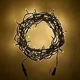 Guirlande Lumineuse Raccordable avec 1000 LED Blanc Chaud sur Câble Vert 100m, Type U par Lights4fun