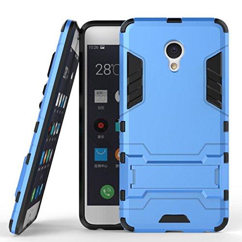 Meizu Meilan E-Fall-Abdeckung 2 in 1 New Armour Tough Art Hybrid Dual Layer Rüstung Defender PC Hard Cases Standplatz-Abdeckung Stoß- Fall Für Meizu Meilan E ( Color : Red , Size : Meizu Meilan E ) Blue
