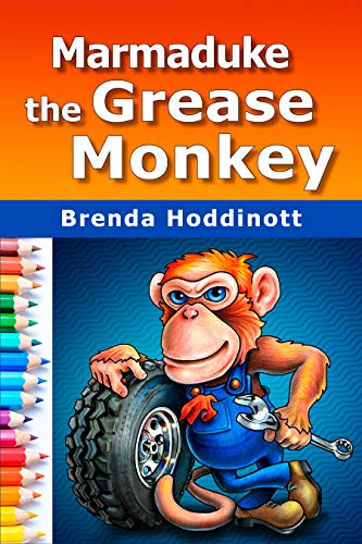 Marmaduke The Grease Monkey: The process of designing, sketching, shading, and outlining an original colored pencil artwork of a monkey - from planning ... Colored Pencils Book 11) (English Edition) (Designs Red Monkey)