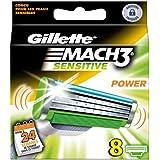 Gillette mach 3 sensitive - Recambios para cuchillas de afeitar (8 unidades)