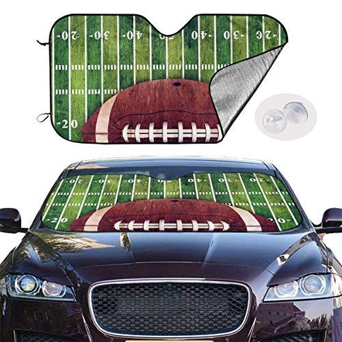 Auto Sonnenschutz Frontscheibe Windschutzscheibe,Car Windshield Sun Shade SUV Trucks Vehicle Minivan UV Sun Heat Reflector Visor Protector Front Window Sunshade,American Football Field Ball Polyester