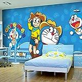 MJJBBH Papier Peint Autocollant Murale (W) 520X (H) 290Cm Fond D'Écran 3D Photo Cartoon Anime Jingle Cat Un Enfant De Rêve Chambre Murale 3D Art Mural Garçon Fille Chambre Affiche Murale Salon