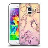 Head Case Designs Lila Und Cremweiss Schimmerndes Marmor Ruckseite Hülle für Samsung Galaxy S5 Mini