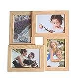 GUTEINTE Cornice Portafoto Cornici Foto Multiple da Parete con 4 Foto 10 x 15 cm / 4' x 6' - per Salotto, Camera da Letto, Studio o Ufficio, Colore Classico (Panna)