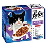 Felix Adult Pouch Mixed Selection in Jelly Cat Food 100gm 12 Pack