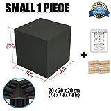 Super Dash (1 Piece) von 20 X 20 X 20 cm Würfel-Ecke Bass Strap Akustikschaumstoff Noppenschaumstoff Akustik Dämmmatte Schallisolierung Schaumstoff Polster Fliesen