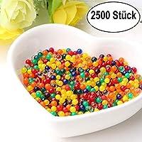 LZHOO 2500 x Colores Mezclados Gel cristalino del Agua Agua Jelly Perla, Bola de Silicona Cristal, para Decoración de Boda y Muebles