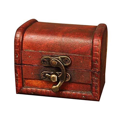 Tt-halter (Cosy-TT Vintage Aufbewahrungsbox Schatzkiste Schmuck Aufbewahrungsbox Holzbox, Schmuck Organizer Halter für Armbänder Ohrringe Halsketten Broschen)