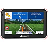 "GPS Car Navigator 5"" Satellite Navigation System 8GB with Voice Navigation and Directional Speed Limit Display - Updated Europe Maps and Lifetime Map Updates"
