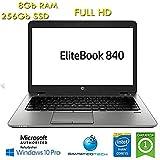 """Notebook HP EliteBook 840 G1 Core i5-4300U 8Gb 256Gb SSD 14.1"""" FHD Windows 10 Professional con Licenza Nuova Simpaticotech MAR Microsoft Authorized Refurbisher (Ricondizionato)"""