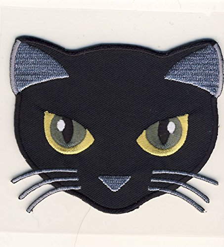 Black Cat - schwarze Katze - Aufnäher Patch Aufbügler Bügelbild