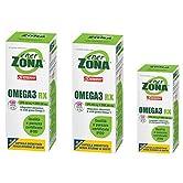 Enervit Enerzona Dieta Zone Integratore Alimentare per il Controllo del Colesterolo e Trigliceridi, Omega 3 RX - 120+120+48 = 288 Capsule da 1 - 51n38CEXUfL. SS166