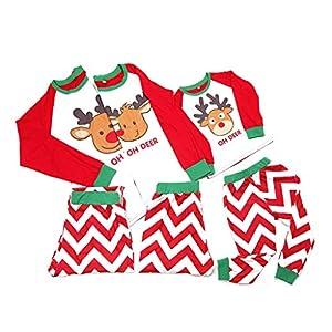 SCU-SS Conjunto Pijamas Navideños Familiares Navidad Pareo Pijama Adulto Niños Manga Larga Ropa De Dormir (Color : Kid… 12