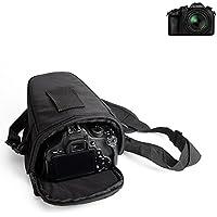 Para Panasonic Lumix DMC-FZ1000: Bolsa per Camera DSLR / SLR / DSLM / Bridge Impermeable Anti-choque Case con cubierta de lluvia Caja de protección total resistente al choque caso bolso de viaje estuche protectora, negro - K-S-Trade(TM)